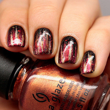 Inspired by Movie. The Hunger Games nail art by Yulia
