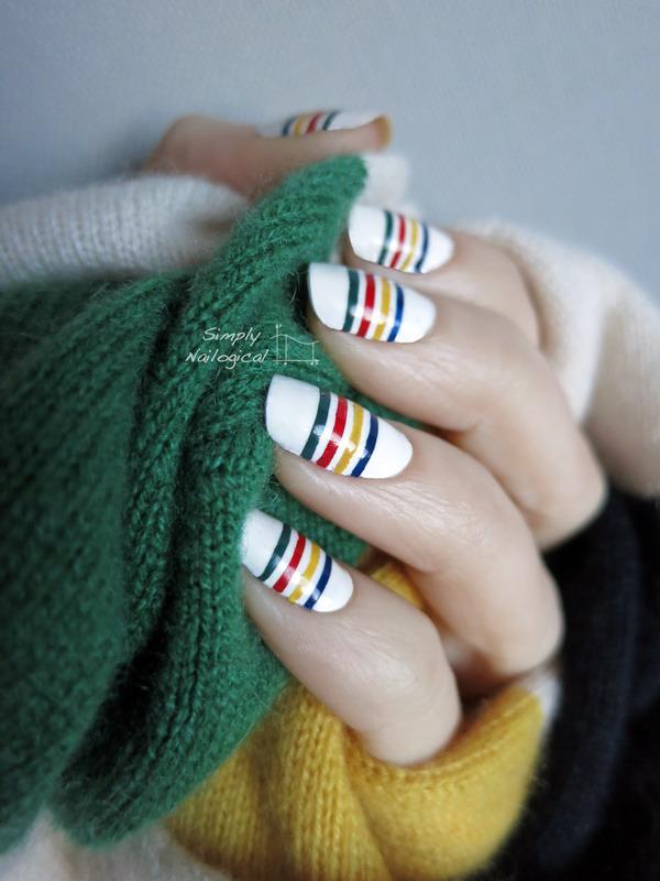 Hudson's Bay nails nail art by simplynailogical