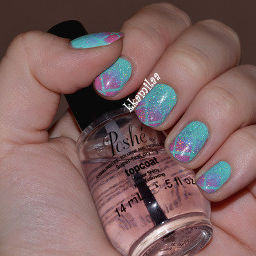 Winter Gradient nail art by Kamila