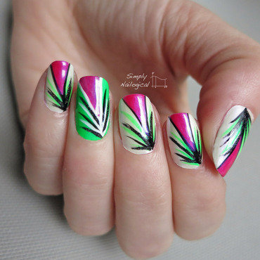 Tropical rainforest nail art by simplynailogical