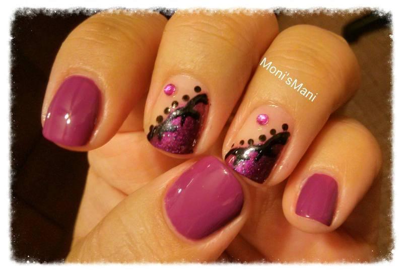 Purple Lace nail art by Moni'sMani