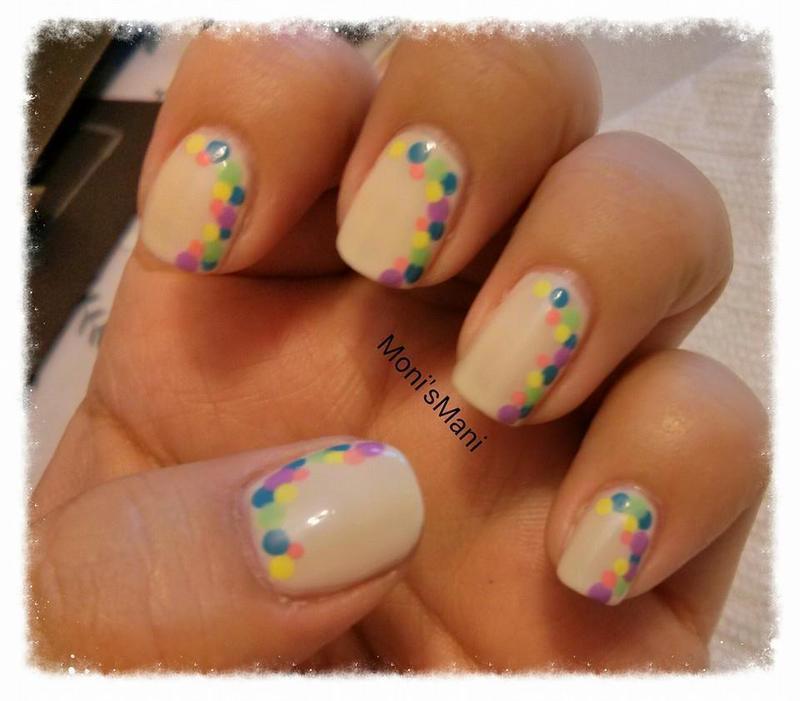 Fun polka dot mani nail art by Moni'sMani