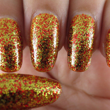Nicole by OPI Fairy Fairy Quite Contrary and Sinful Colors Pumpkin Spice Swatch by Pixel's Polish