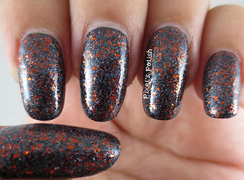 Sally Hansen Xtreme Wear Black Out and Sinful Colors Black Magic Swatch by Pixel's Polish