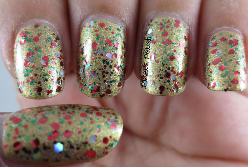 Sinful Colors Holiday Rebel and Rainbow Honey Gilded Angel Swatch by Pixel's Polish