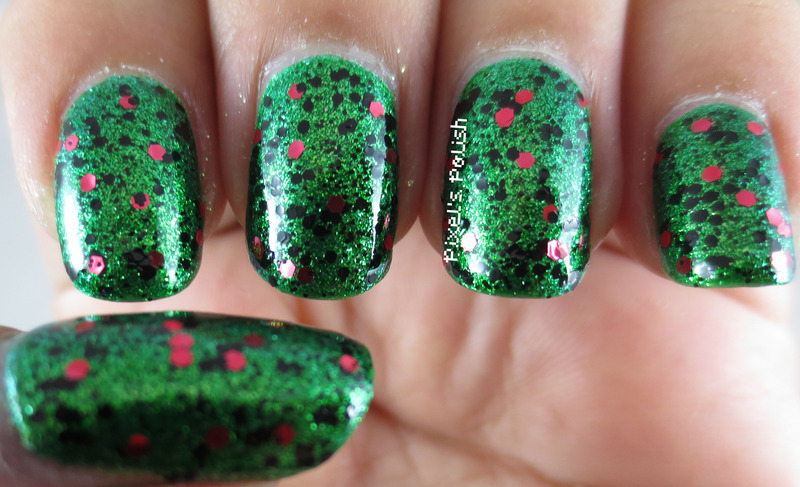 China Glaze Running in Circles and Sinful Colors Unwrap Me Swatch by Pixel's Polish