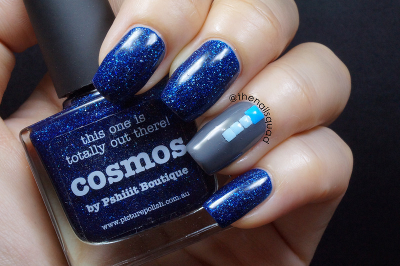 piCture pOlish Cosmo and Barry M Grey #293 Swatch by thenailsquad