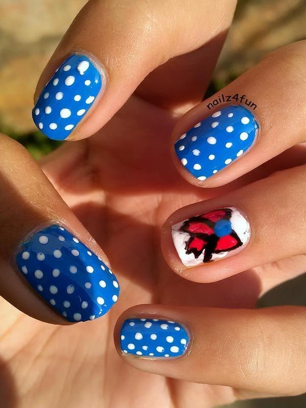 Dress-Inspired Nails! nail art by Nailz4fun