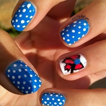Dress-Inspired Nails! nail art by Nailz4fun