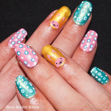 Easy easter nails nail art by Diana Livesay