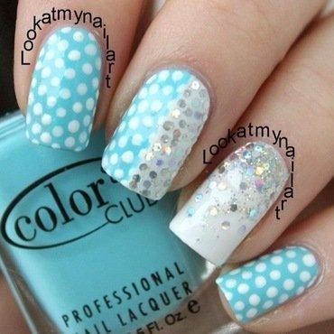 Glittery dotticure nail art by Sabine
