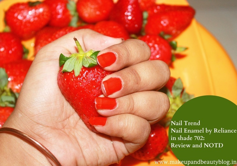 strawberry shade nail art by jayshree bhagat