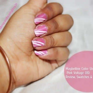 Maybelline color show  pink voltage 010  review  swatches   notd4 thumb370f