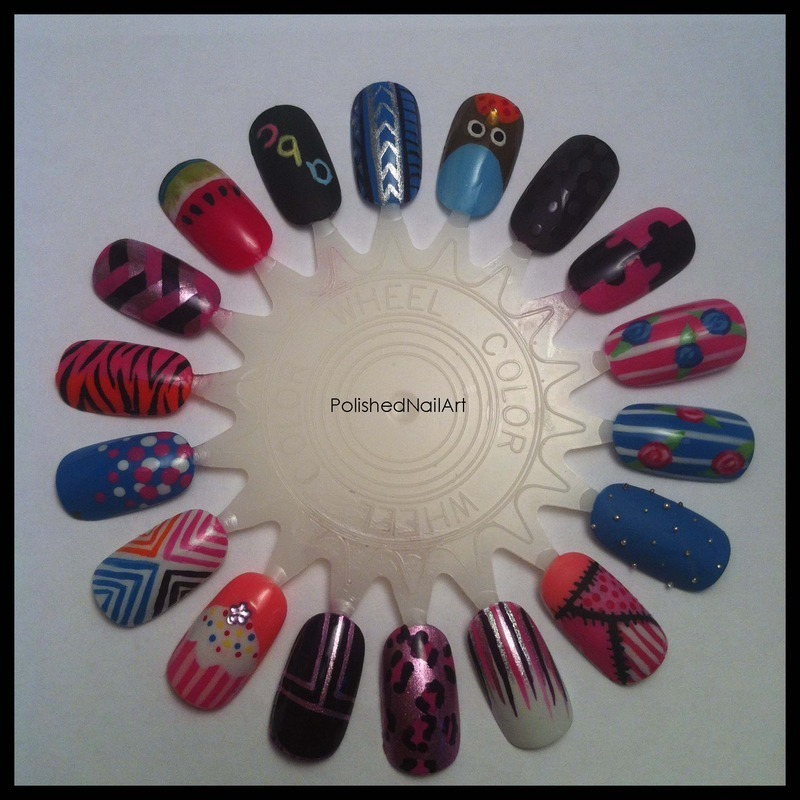 Nail art inspiration colour wheel nail art by Carrie