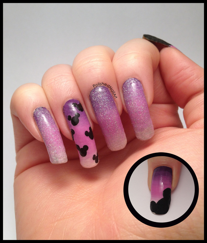 Disney World Nail Art (non dominant hand) nail art by Carrie