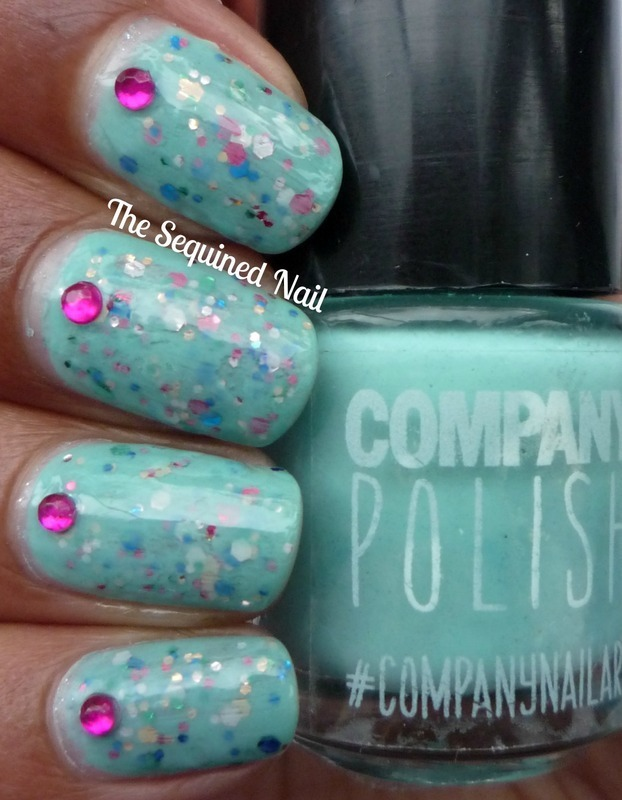 Green Jelly Sandwich nails  nail art by TheSequinedNail
