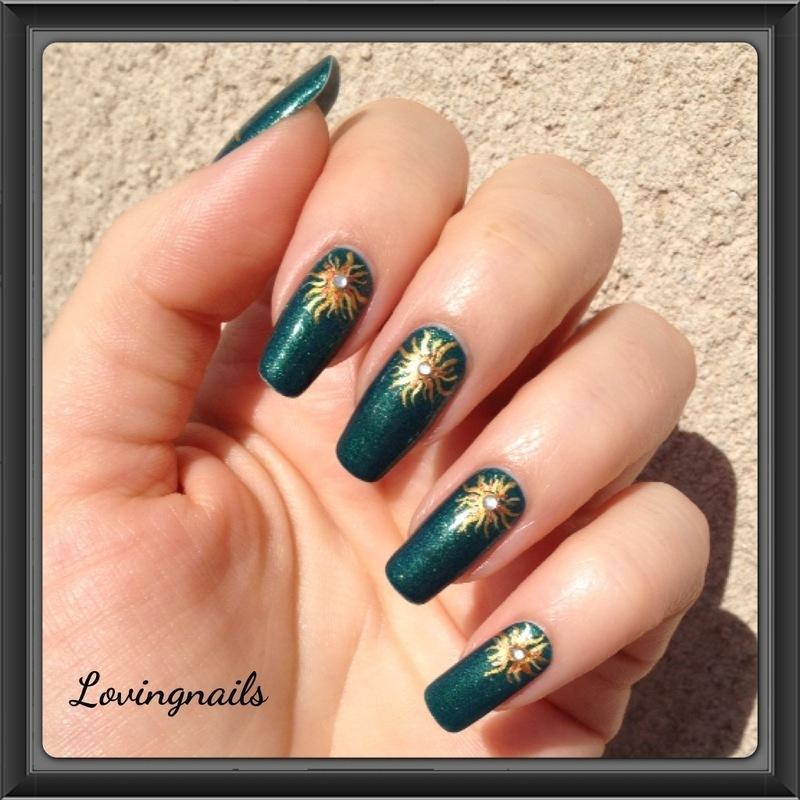 nail art sun nail art by lovingnails nail art
