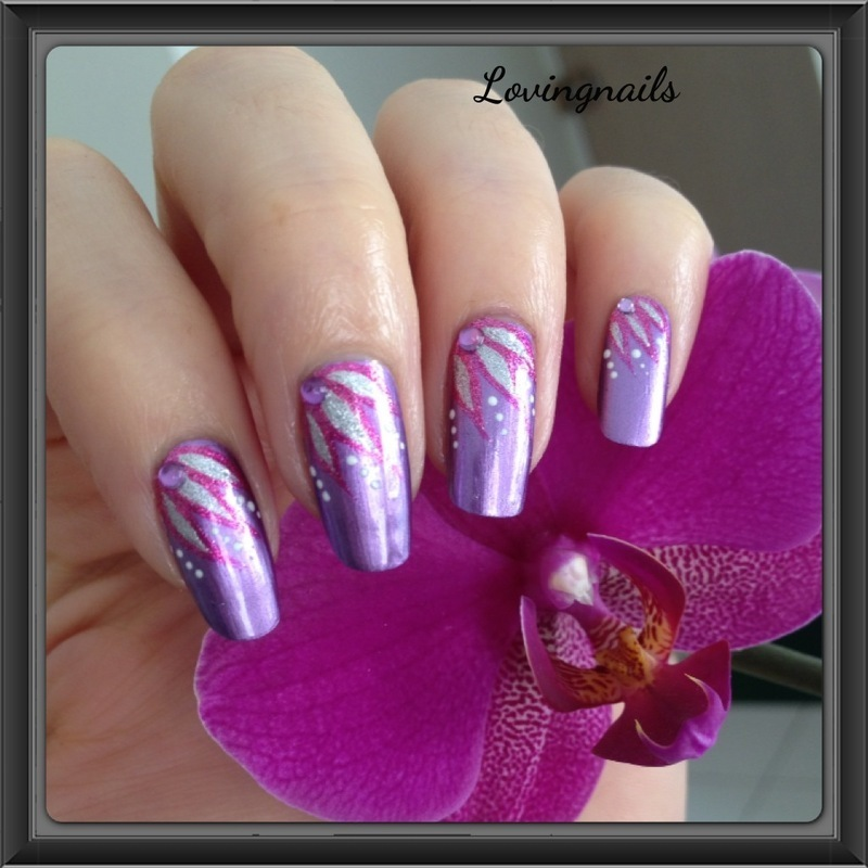 nail art purple flower nail art by lovingnails nail art