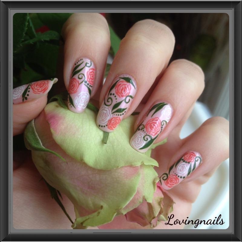 nail art roses nail art by lovingnails nail art