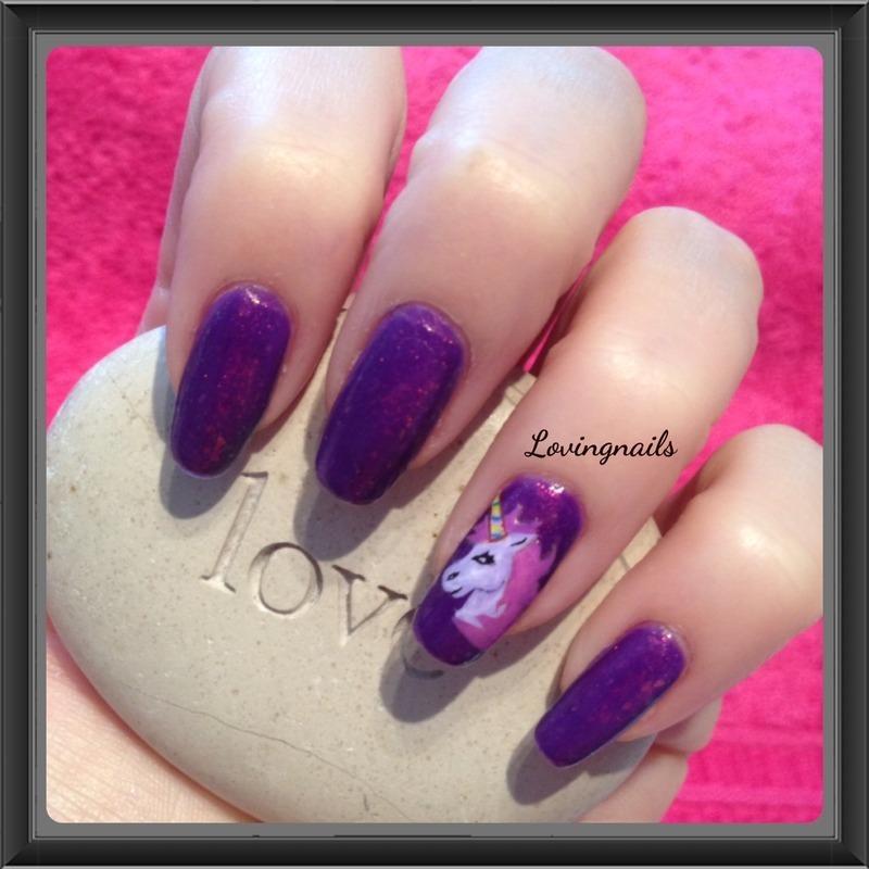 nail art licorne nail art by lovingnails nail art