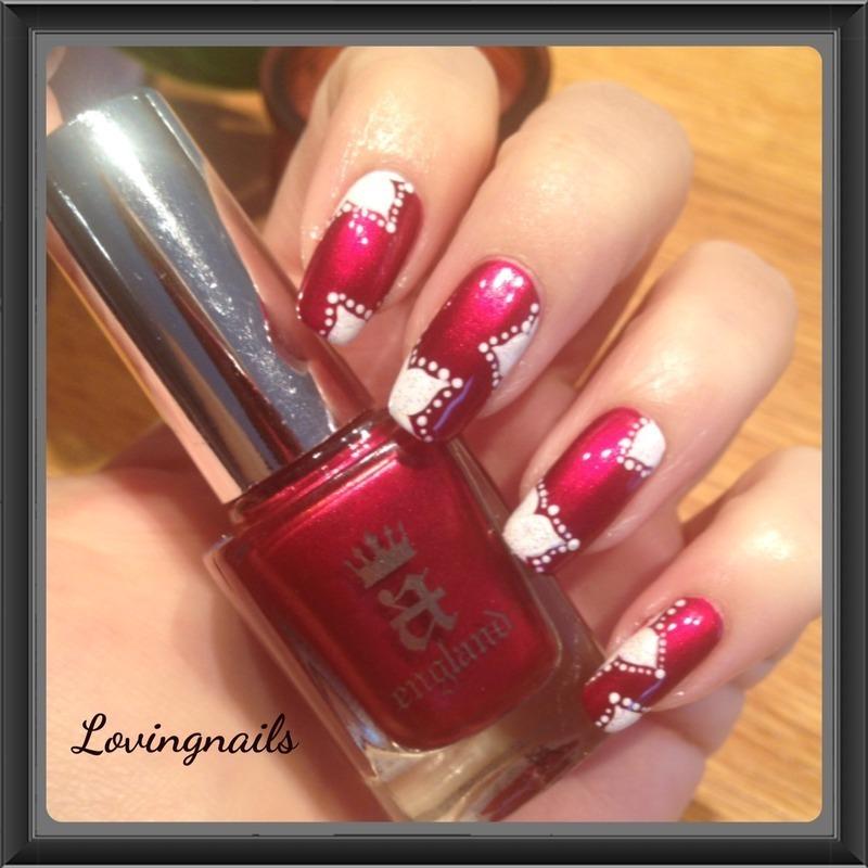 nail art fleur de noel nail art by lovingnails nail art