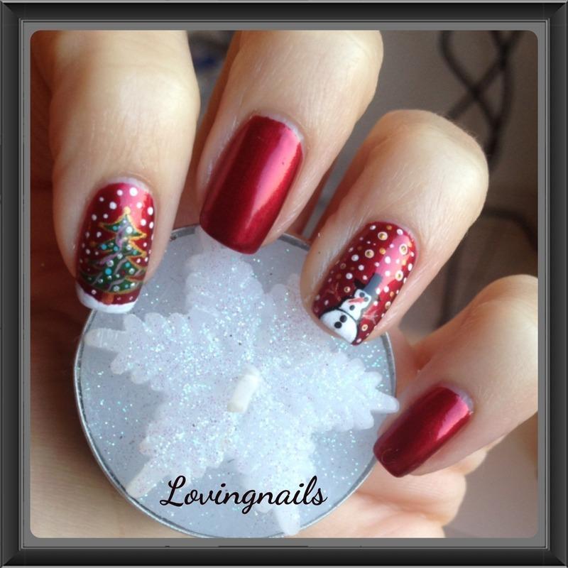 nail art noel nail art by lovingnails nail art