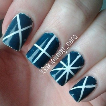 Intersecting Lines nail art by Sera Knott