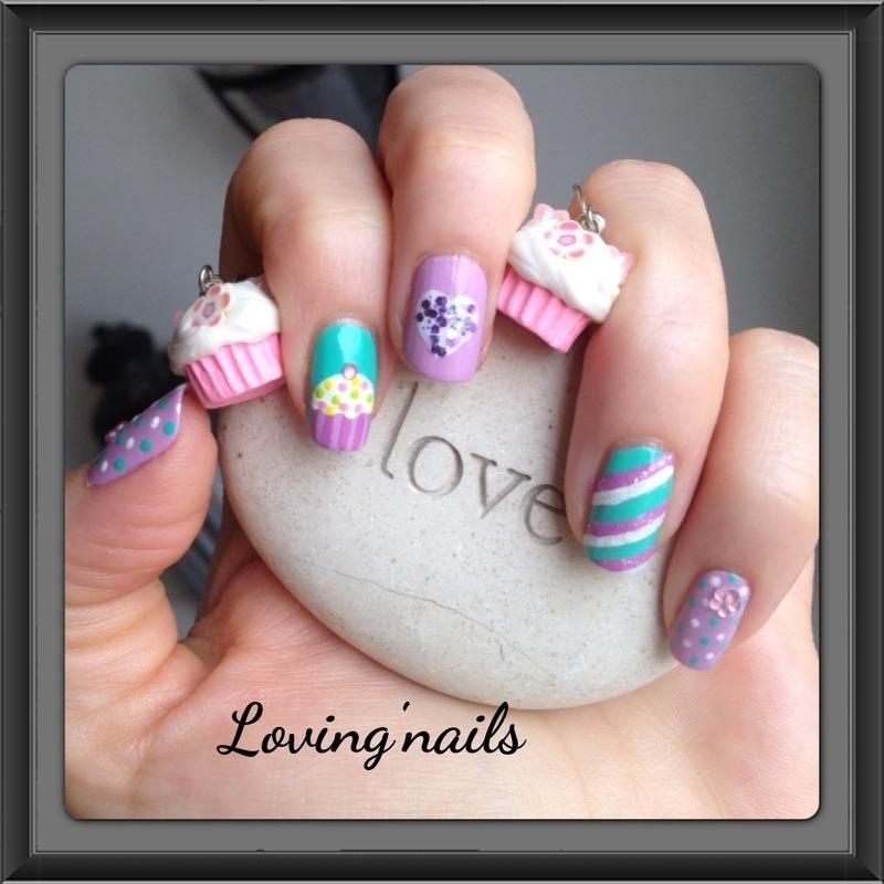 nail art cucake nail art by lovingnails nail art