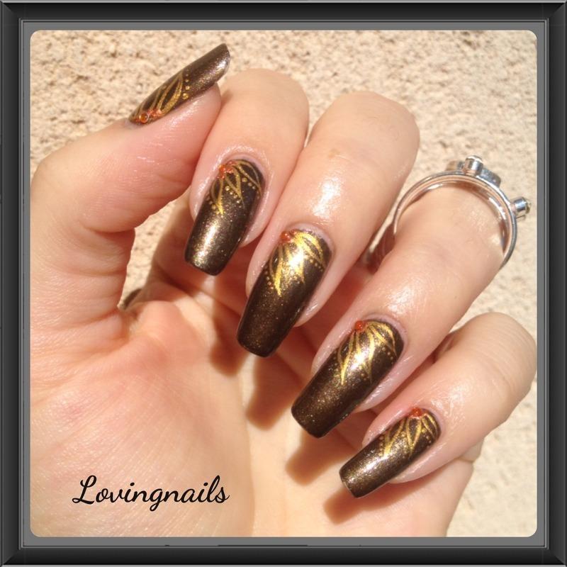 nail art fleur d 'or nail art by lovingnails nail art