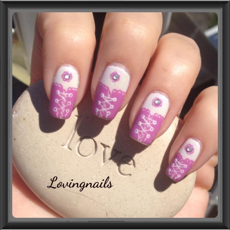 nail art sweet corset nail art by lovingnails nail art