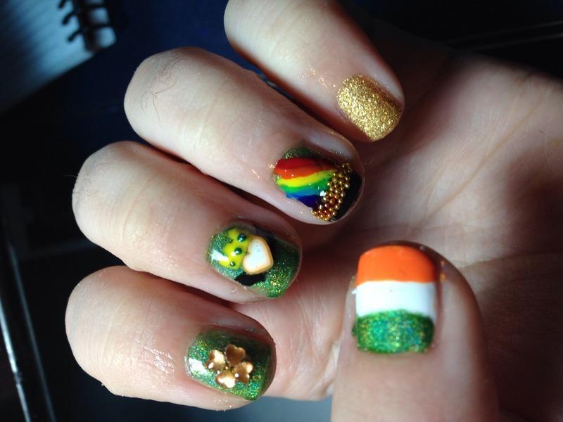 St Paddy's Day nail art by Snowwhitequ33n