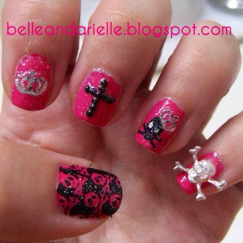 Birthday Nail Art nail art by Snowwhitequ33n