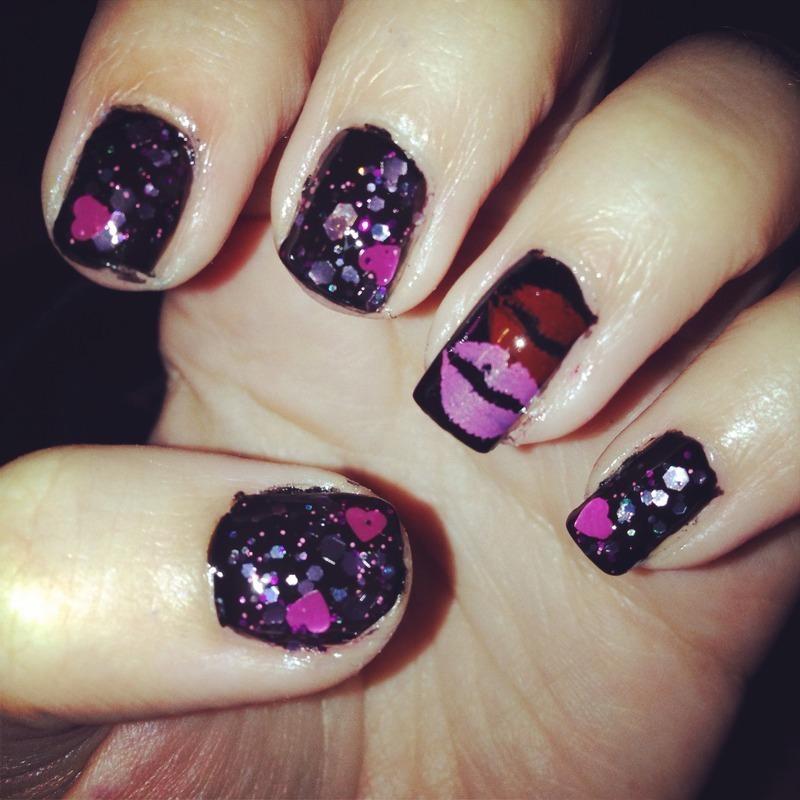 Valentines Day nail art by Snowwhitequ33n