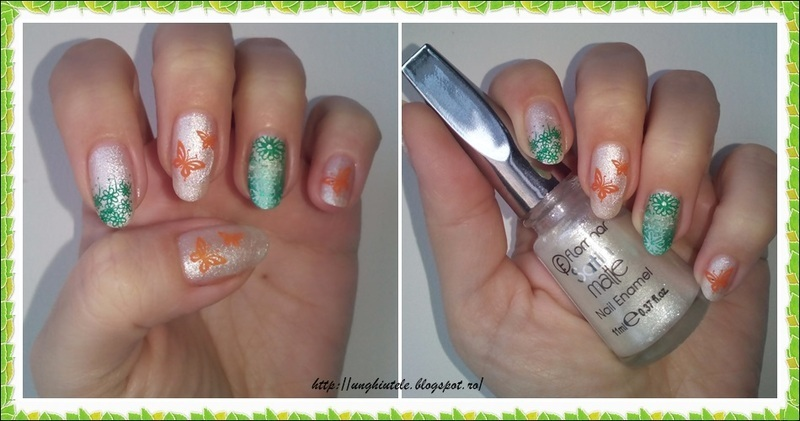 Flowers and butterflies nail art by Oana  Alexandru