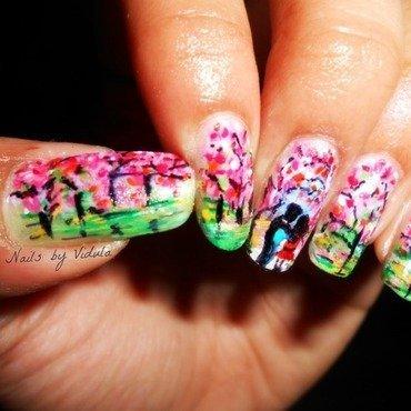 Spring Romance nail art by Vidula Kulkarni
