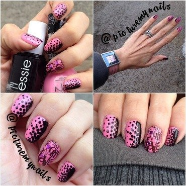 Stippling nails nail art by Picture My Nails