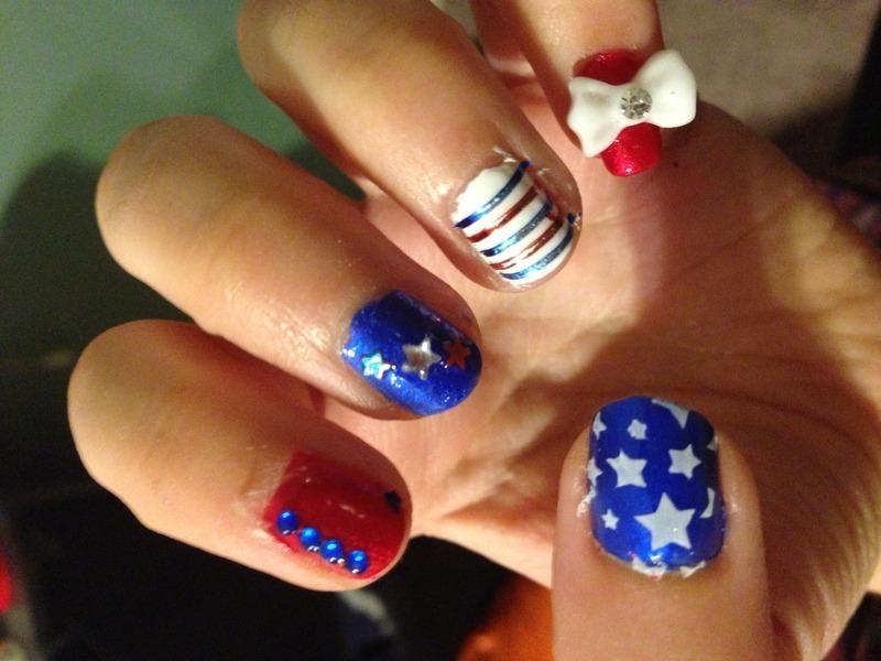 4th of July 2 nail art by Snowwhitequ33n