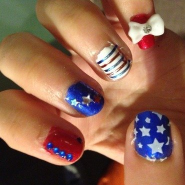 4th of July 2 nail art by Snowwhitequ33n