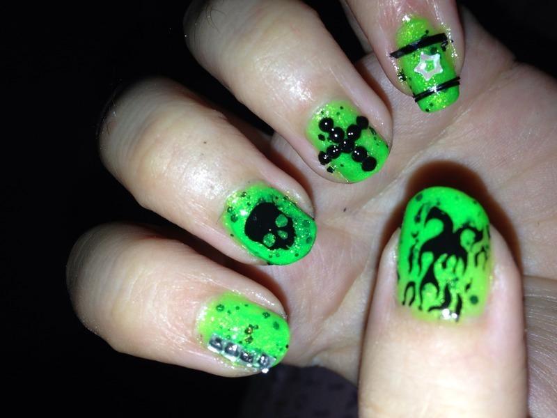 Punk nail art by Snowwhitequ33n
