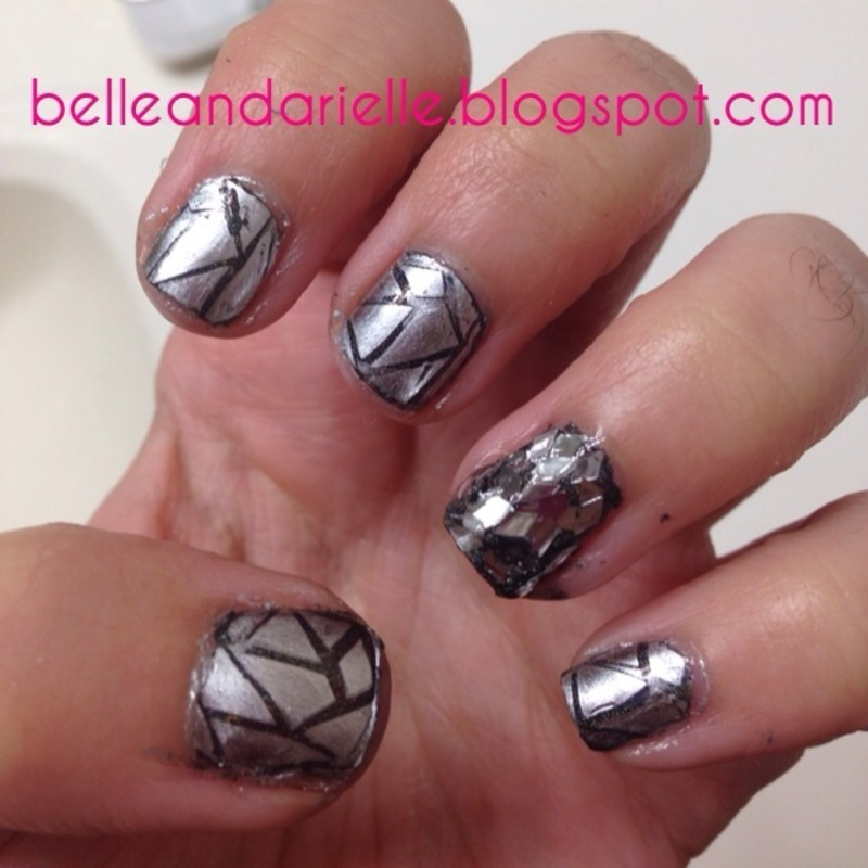Broken Glass nail art by Snowwhitequ33n
