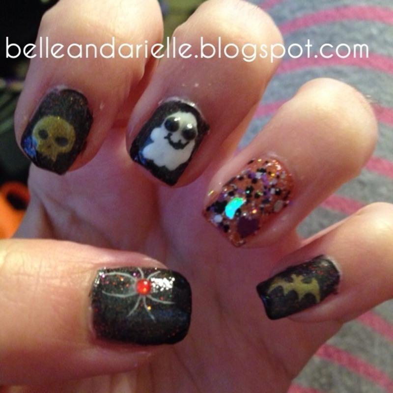 Halloween 2 nail art by Snowwhitequ33n