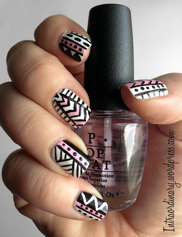 Tribal Pattern Nails nail art by Katie - Nailpolis: Museum of Nail Art