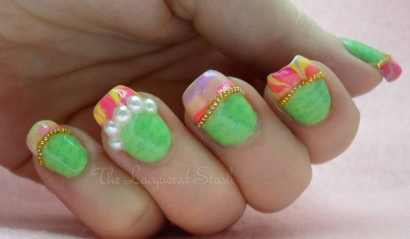 Spring Passion nail art by Emma N.