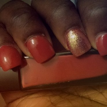 golden neutral nail art by Lacquer_Lounge