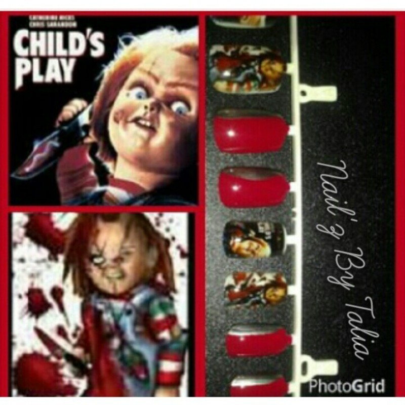 Child's Play nail art by taliatatztips
