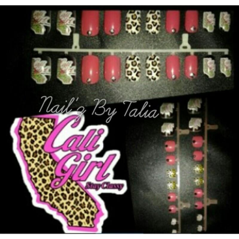 California girl's are undeniable! nail art by taliatatztips
