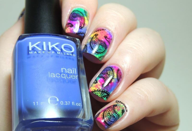 Holi Celebration nails nail art by Marine Loves Polish