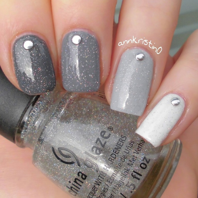Grey Ombré Nails nail art by Ann-Kristin - Grey Ombré Nails Nail Art By Ann-Kristin - Nailpolis: Museum Of Nail Art