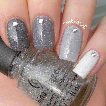 Grey Ombré Nails nail art by Ann-Kristin
