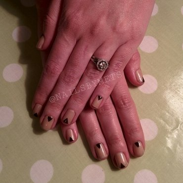 Simply Tri-chic nail art by Mets